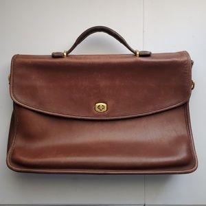Vintage Coach Brown Leather Briefcase laptop bag